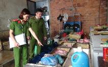Cơ sở chế biến mỡ, da lợn không đảm bảo vệ sinh an toàn thực phẩm