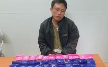 Bắt nghi phạm mang theo 60 túi chứa 12.000 viên hồng phiến