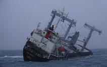Thêm 1 tàu hàng sắp chìm ngoài biển Bình Thuận, thủy thủ đã mặc áo phao