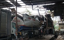Nổ xe bồn chứa xăng dầu đang đậu trong garage, 3 người nhập viện