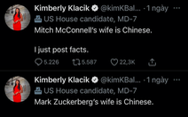 Chính khách Mỹ bị chỉ trích vì nói vợ Mark Zuckerberg là 'người Trung Quốc'
