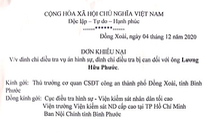 Vợ ông Lương Hữu Phước khiếu nại quyết định đình chỉ điều tra