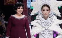 Hoa hậu Khánh Vân làm vedette, NSND Hồng Vân làm người mẫu catwalk cho nhà thiết kế Minh Châu