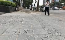 'Ổ voi', 'ổ gà' trên vỉa hè các phố trung tâm Hà Nội