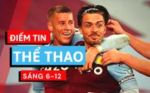 Điểm tin thể thao sáng 6-12: 2 tuyển thủ Anh tiệc tùng bất chấp lệnh 'giới nghiêm'