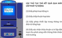 Đà Nẵng triển khai thí điểm máy cấp phát giấy tờ thủ tục hành chính tự động