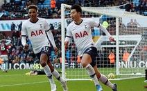 Son Heung Min lập cú đúp, Tottenham thắng nghẹt thở Aston Villa