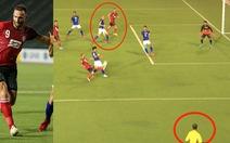 Video pha bắt việt vị 'thảm họa' của trọng tài ở AFC Cup