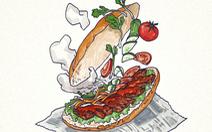 'Lên cơn thèm' với loạt tranh bánh mì khiến dân mạng 'sôi sùng sục'