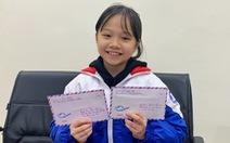 Học sinh lớp 4 tặng tiền lì xì mua khẩu trang, viết thư gửi Thủ tướng