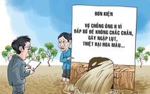 Vui buồn vụ kiện ở làng quê - Kỳ 1: Chỉ tại... nước tràn bờ đê