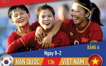 Lịch thi đấu vòng loại Olympic 2020 môn bóng đá nữ: Việt Nam - Hàn Quốc