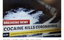 Mỹ bác bỏ tin giả hít cocaine, chất tẩy trắng, tỏi, thủ dâm 'chữa được corona'