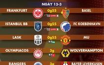Lịch trực tiếp lượt đi vòng 16 đội Europa League ngày 13-3