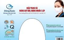 Vinatex tung tiếp khẩu trang kháng khuẩn 3 lớp có tem chống giả, giá 70.000 đồng/5 cái