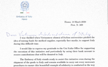 Đại sứ Ý xúc động cảm ơn tình cảm cựu sinh viên Việt Nam trong dịch COVID-19