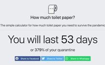 Công cụ online giúp tính lượng giấy vệ sinh đủ dùng, không cần tích trữ quá mức