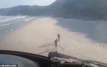 Brazil dùng trực thăng tạo 'bão cát' đuổi du khách khỏi bãi biển