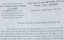 Giả danh cán bộ Sở Lao động kêu gọi hỗ trợ kinh phí phòng chống dịch COVID-19