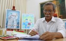 Vẽ tranh cổ động tiếp thêm tinh thần cho y bác sĩ chống dịch COVID-19