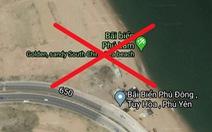 Google Maps biến bãi biển Tuy Hòa thành 'South China Sea beach'