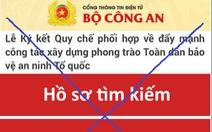 Giả mạo Cổng thông tin điện tử Bộ Công an để lừa đảo