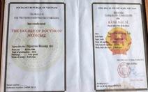 Phát hiện một trường hợp sử dụng bằng dược sĩ, bác sĩ giả