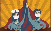 Tranh tuyên truyền chống COVID-19 của Việt Nam lên báo Anh