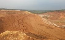Sụt lún hàng ngàn khối đất đá tại khu công nghiệp Nhân Cơ