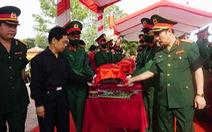An táng 57 hài cốt liệt sĩ Việt Nam hi sinh tại Lào