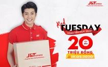 Gửi hàng ngày Red Tuesday - J&T Express hoàn tiền 'khủng'