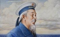 Tặng tranh Bác Hồ cho Bộ tư lệnh Quân chủng Hải quân