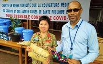 Mũ nồi xanh Việt Nam làm đại sứ chống COVID-19 tại Cộng hòa Trung Phi