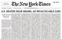 Dịch COVID-19: New York Times 'đếm không xuể' người chết tại Mỹ