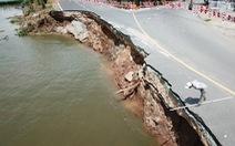 Toàn cảnh 40m quốc lộ 91 'trôi' xuống sông Hậu nhìn từ flycam