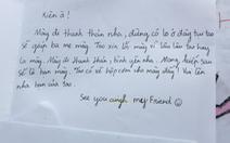Xúc động những bức thư bạn bè tiễn đưa nam sinh mất vì cây đổ