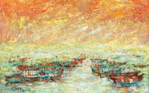 Trường Sa, nhà giàn, biển đảo... dạt dào cảm xúc trong các tác phẩm tranh, gốm