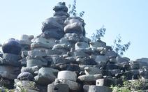 Bức tường làm từ 1.000 cối đá thành điểm check-in độc đáo
