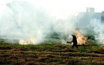 Đốt rơm, chất thải sinh hoạt mịt mù khiến chất lượng không khí 'rất xấu'