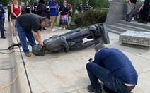 3 tượng nhà thám hiểm Columbus bị giật sập trong biểu tình Mỹ