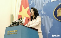 Việt Nam lên tiếng về công thư Mỹ bác bỏ yêu sách Biển Đông của Trung Quốc