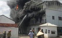 Cháy lớn xưởng sản xuất giày da tại Hải Phòng