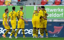 Haaland tỏa sáng ở phút bù giờ, Dortmund thắng chật vật Dusseldorf