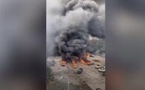 Clip nổ xe bồn chở dầu ở Trung Quốc, 10 người chết, 117 người bị thương