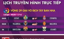 Lịch trực tiếp bóng đá châu Âu rạng sáng 17-6