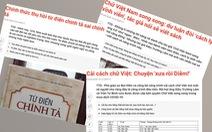 Từ điển chính tả sai chính tả: Đã đến lúc cần có luật tiếng Việt?