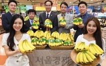 Siêu thị Lotte Mart đưa chuối Việt Nam vào bán tại Hàn Quốc