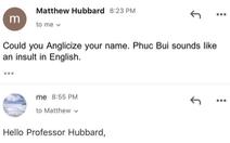 Cô gái tên Phuc Bui bị giảng viên Mỹ bắt đổi tên vì 'nghe xúc phạm'