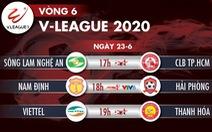 Lịch trực tiếp vòng 6 V-League 2020: Sông Lam Nghệ An đối đầu CLB TP.HCM