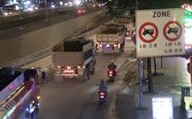 Xe ben vẫn tung hoành trên đường cấm